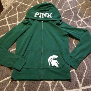 VS PINK sweat jacket sz. M- MSU Spartans